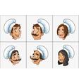 happy chef or cook icon image vector image