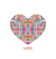 polygon heart vector image