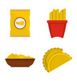 potato food icon set flat style vector image