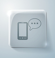 smartphone with cloud of speaking dialogue vector image
