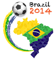 Sport poster soccer vector image