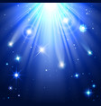stars with rays of light vector image