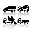 Set of transport icons - Tipper and Concrete mixer vector image vector image