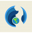 earth day paper cut out mother nature concept vector image