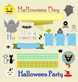 halloween decoration ribbons vector image