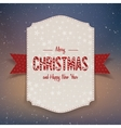 Christmas realistic big paper Banner with Ribbon vector image vector image