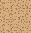 Seamless Pattern with Set Cup of Coffee Drinks and vector image vector image