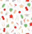Cozy knitting pattern vector image