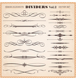 Design elements dividers and dashes vector image