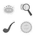 game detective and other monochrome icon in vector image