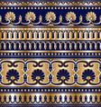 gold grek seamless vector image