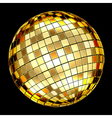 golden mosaic ball vector image