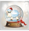Lamb in Snowball 2015 vector image