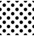 polka dot black vector image
