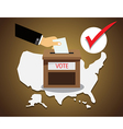 US presidential election Vote vector image