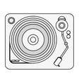single gramophone icon vector image