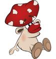 Magic poisonous mushroom vector image vector image