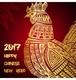 New Year greeting card with Gold Roosters vector image