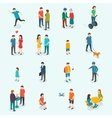 Isometric 3d people Set of woman and man vector image
