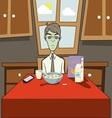 Dozombox The Capitalism Zombie Breakfast vector image