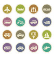 public transport icons set vector image