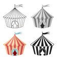 circus tent icon in cartoon style isolated on vector image