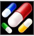 multicolored pills vector image