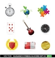 Web and creative graphic symbols set vector image