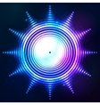 Abstract shining neon light sun shape vector image