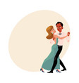 couple of professional ballroom dancers caucasian vector image