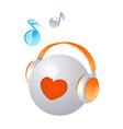 icon headphone vector image