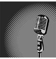Retro Microphone Spotlight vector image