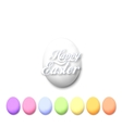 Set of colorful eggs isolated on white vector image