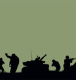 tank and the soldiers going into battle2psd vector image