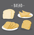 toasted bread icon food drink cook vector image