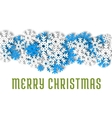 Merry Christmas greeting card Winter snowflakes vector image