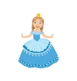 Little Girl In Blue Dress Dressed As Fairy Tale vector image vector image