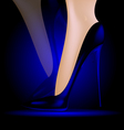 feet in blue shoes vector image vector image
