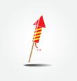 color fireworks rocket vector image vector image