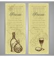 Premium food and drink menu vector image