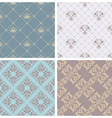 set of retro seamless patterns vector image