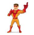 Handsome Superhero Laugh vector image vector image