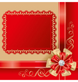 gift box top vector image vector image