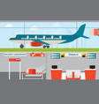 Airport infographic design vector image