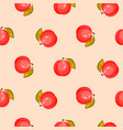 bright ripe peach fruit seamless pattern vector image