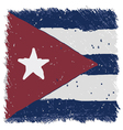 Flag of Cuba handmade square shape vector image