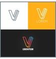 Letter V logo alphabet design icon background vector image