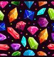 seamless pattern with jewels and diamonds vector image