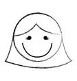 sketch draw women face cartoon vector image