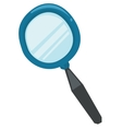Classic magnifying glass vector image
